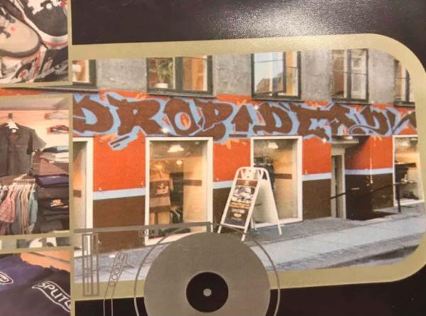 Den første Drop Dead-butik i 1990'erne.