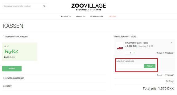 Spar penge med en rabatkode hos Zoovillage