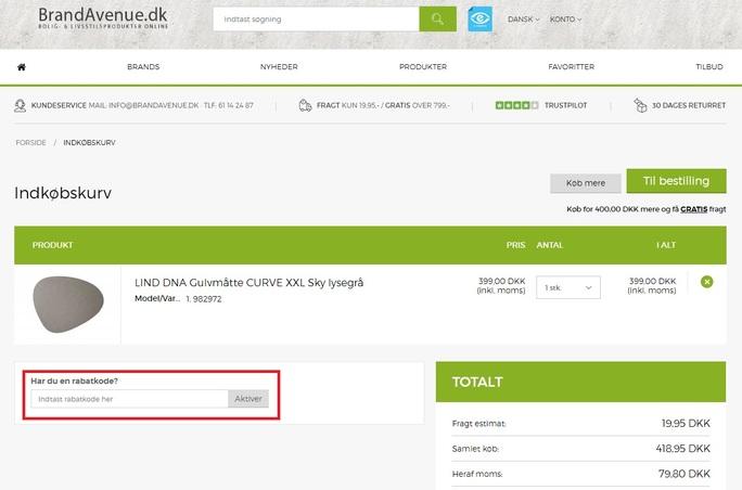 Brug en rabatkode og spar hos BrandAvenue.dk