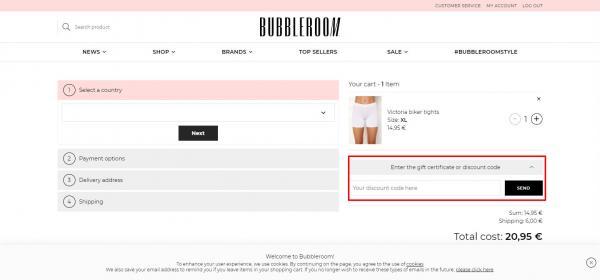 Sådan indløser du din rabatkode hos Bubbleroom.