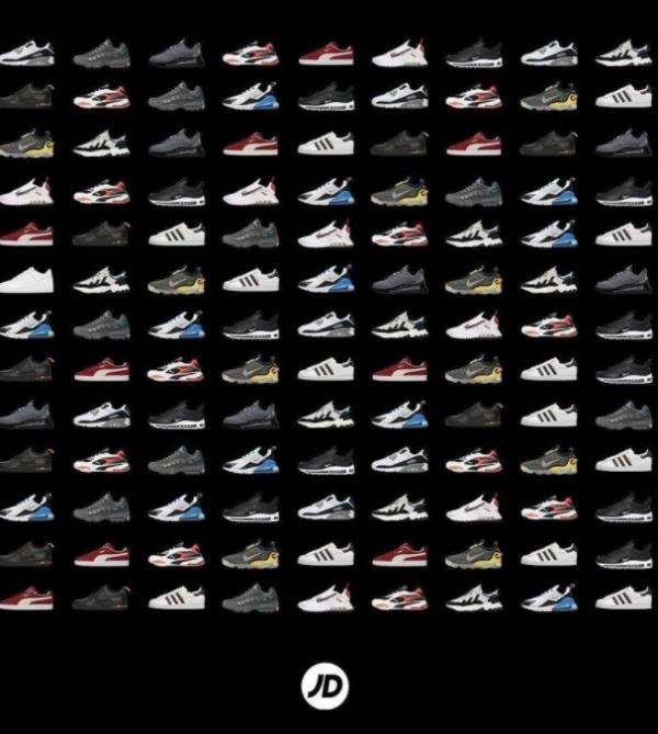 JD Sports har sneakers i alle afskygninger.