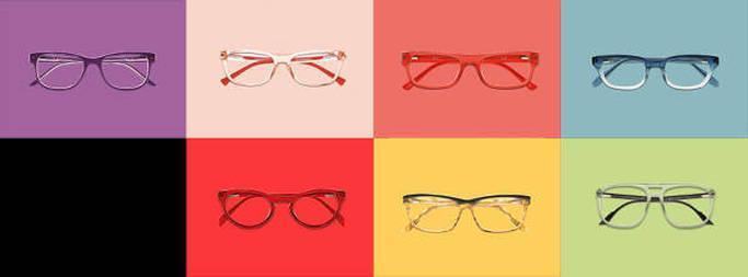Forskellige rammer og glas til briller hos LensWay