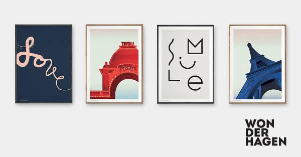 Design plakater fra Wonderhagen