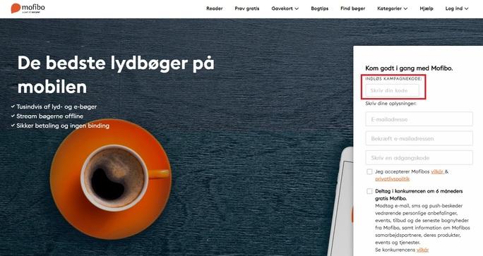Benyt en kampagnekode hos Mofibo og lyt til lydbøger lidt billigere