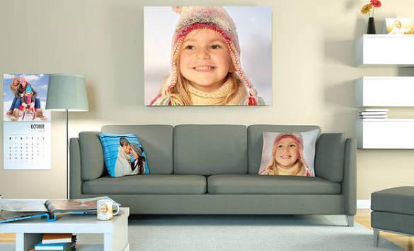 Puder, plakater og kalendere med personlige billeder fra Smartphoto