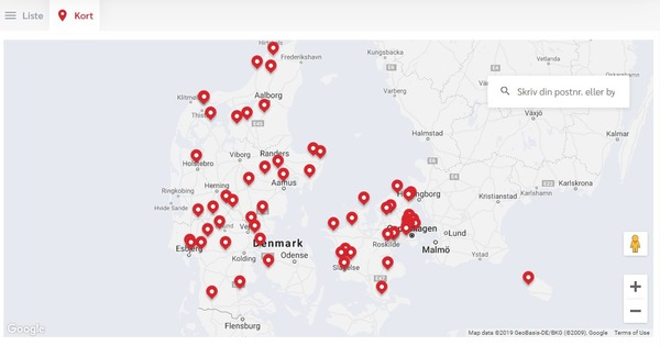 One2move findes i hele Danmark.