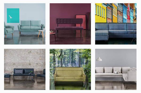 Et eksempel på Nordic Sofas Instagram billeder