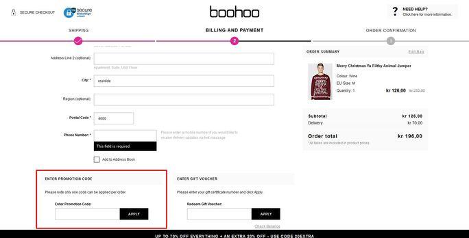 boohoo.com rabatkode