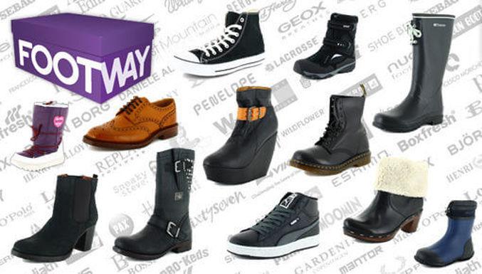 Et hav af forskellige sko hos Footway