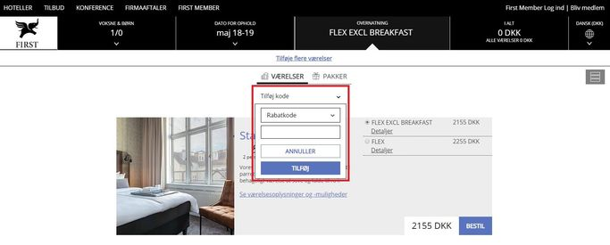 Benyt en rabatkode hos First Hotels