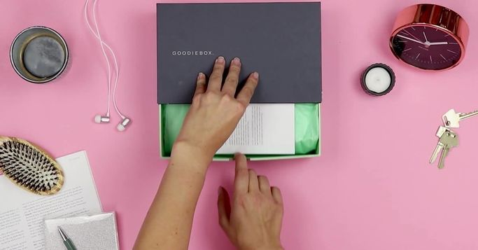 Goodiebox med skønhedprodukter
