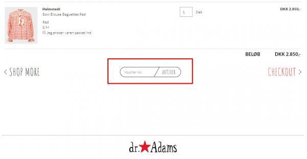 Sådan indløser du din rabatkode hos Dr. Adams.