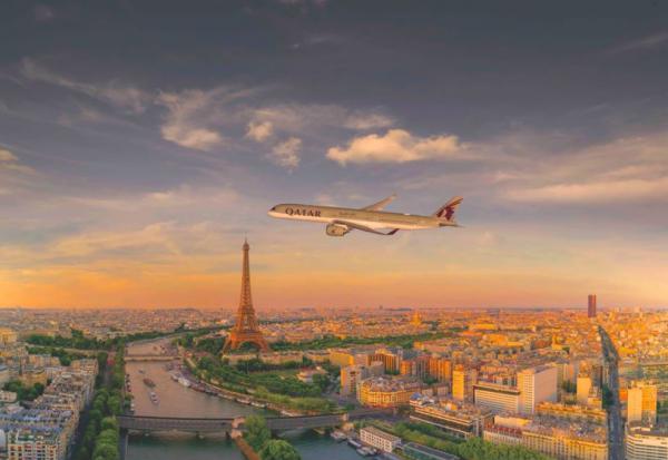 Qatar Airways flyver til et væld af kendte destinationer, bl.a. Paris.