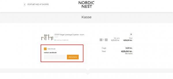 Sådan indløser du din rabatkode hos Nordic Nest.