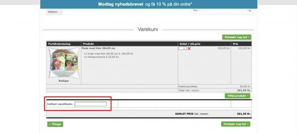 Sådan indløser du din rabatkode hos Foto.dk