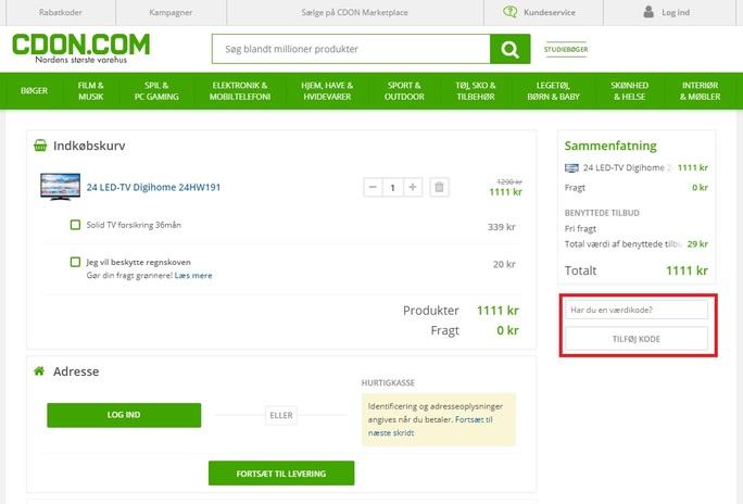 Spar penge med en rabatkode hos CDON