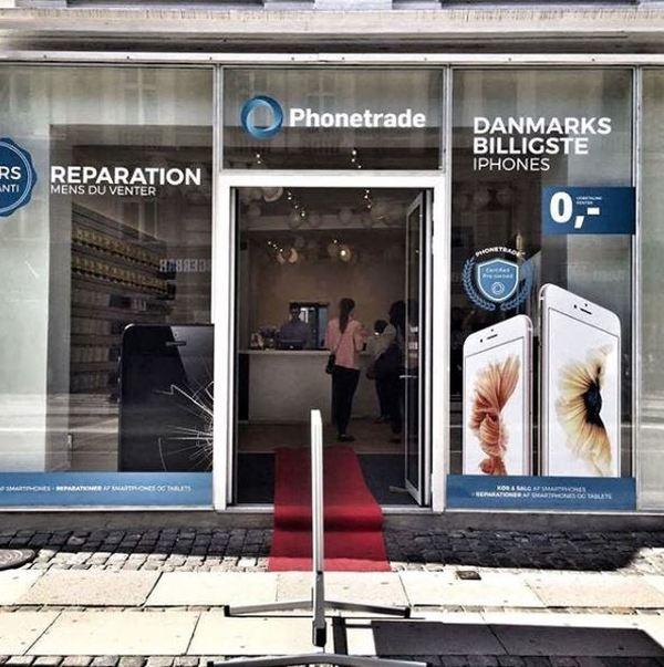 En af Phonetrades fysiske butikker.