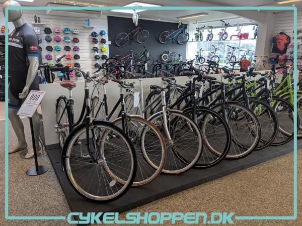 Fra Cykelshoppens butik i Skanderborg.
