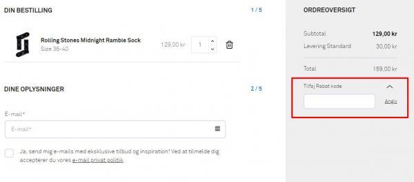 Sådan indløser du din rabatkode hos Happy Socks.