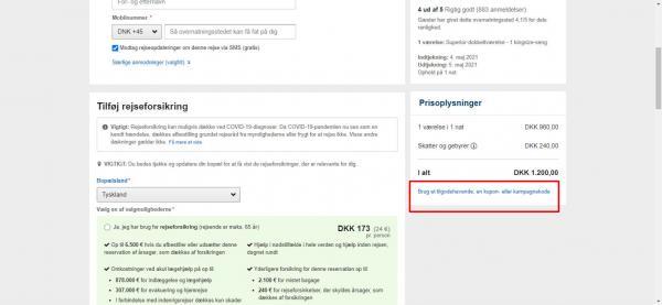 Sådan indløser du din rabatkode hos Expedia.