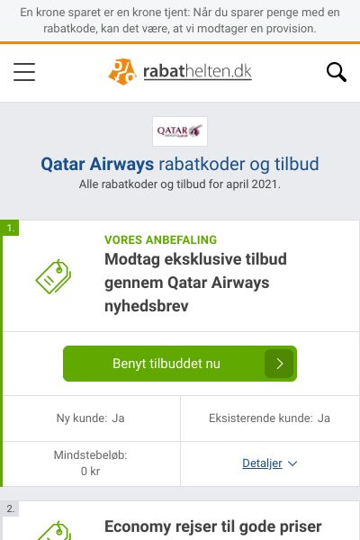 Qatar Airways rabatkoder